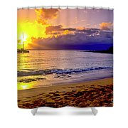 Kapalua Bay Sunset Shower Curtain