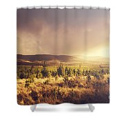 Karanja Dreamy Outback Landscape Shower Curtain