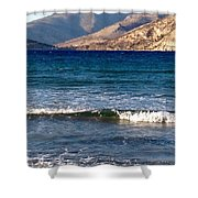 Kardamila Chios Greece Shower Curtain