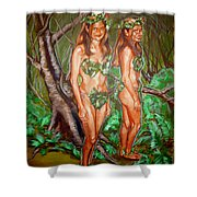 Karen M Times Two At Dragoncon Shower Curtain