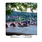 Karl Theodor Bridge And Heidelberg Castle  Shower Curtain
