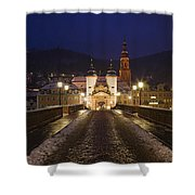 Karl Theodor Bridge With The Castle Shower Curtain