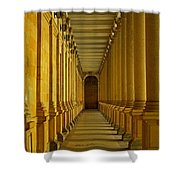 Karlovy Vary Colonnade Shower Curtain by Juergen Weiss