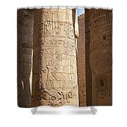 Karnak Pillar Carvings Shower Curtain