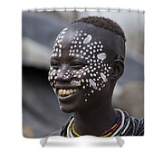 Karo Tribe Female Shower Curtain