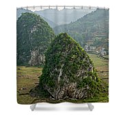 Karst Landscape, Guangxi China Shower Curtain