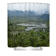 Karst Landscape Of Guangxi Shower Curtain