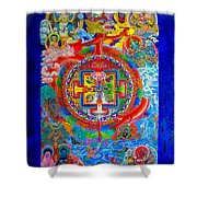 Karuna Mandala Shower Curtain