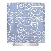 Kasbah Blue Arabesque Shower Curtain