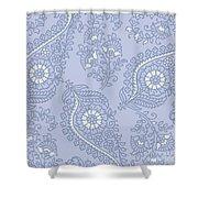 Kasbah Blue Paisley II Shower Curtain