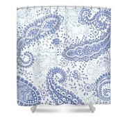 Kasbah Blue Paisley Shower Curtain
