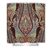 Kashmir Elephants - Vintage Style Patterned Tribal Boho Chic Art Shower Curtain