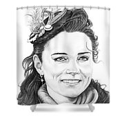 Kate Middleton Shower Curtain by Murphy Elliott