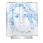 Kate Winslet Shower Curtain