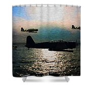 Kates On The Prowl - Oil Shower Curtain