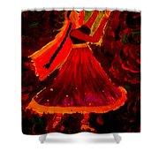 Kathak Shower Curtain