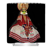 Kathakali Dancer Shower Curtain