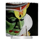 kATHAKALI PAINTING REALISTIC Shower Curtain