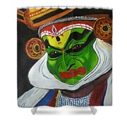 Kathakali Shower Curtain