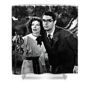 Katharine Hepburn Cary Grant Bringing Up Baby 1938-2015 Shower Curtain