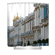 Katharinen Palace And Onion Domes - Russia Shower Curtain