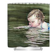 Katie Wants A River Rock Shower Curtain