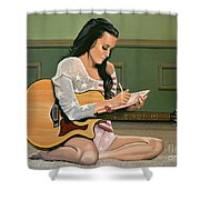 Katy Perry Painting Shower Curtain