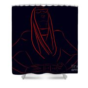 Katy Perry Silhouette Shower Curtain