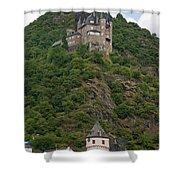 Katz Castle And Village Shower Curtain