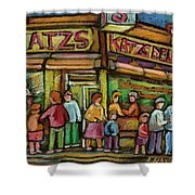 Katzs Delicatessan New York Shower Curtain