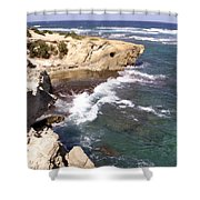 Kauai Coast With Shark Outcrop Shower Curtain