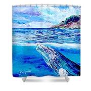 Kauai Humpback Whale Shower Curtain