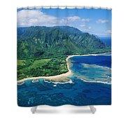 Kauai, Tunnels Beach Shower Curtain