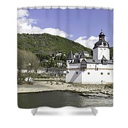 Kaub And Burg Pfalzgrafenstein Shower Curtain
