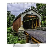 Kaufman Covered Bridge - Pa Shower Curtain
