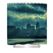 Kaw Point Kansas City Skyline Shower Curtain
