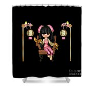 Kawaii China Doll Scene Shower Curtain