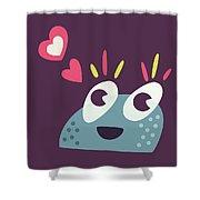 Kawaii Cute Cartoon Candy Character Shower Curtain