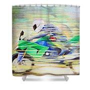 Kawasaki Quick - Kawasaki Zl1000 Shower Curtain