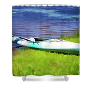 Kayak In Upstate Ny Shower Curtain