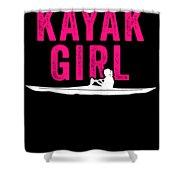 Kayak Kayak Girl Pink Gift Light Shower Curtain