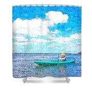 Kayak Lesson Shower Curtain