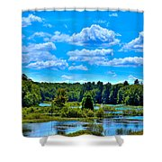 Kayak On The Moose River Shower Curtain