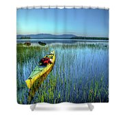 Kayak Sunrise Shower Curtain