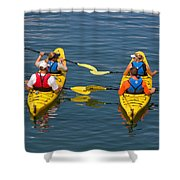 Kayakers In Bar Harbor Maine Shower Curtain