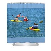 Kayaking Friends Shower Curtain