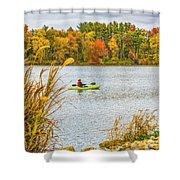 Kayaking In Fall Shower Curtain