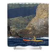 Kayaking In Molokai Shower Curtain