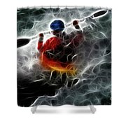 Kayaking In The Zone 3 Shower Curtain