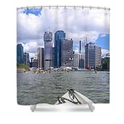 Kayaking On The Brisbane River Shower Curtain